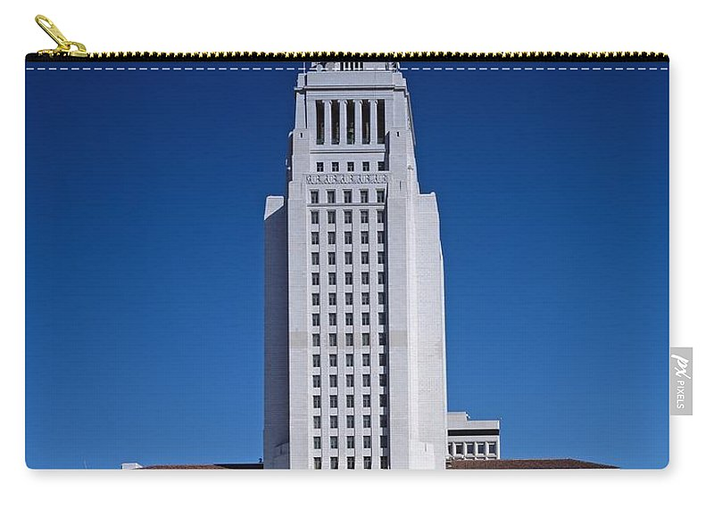 Los Angeles Carry-all Pouch featuring the photograph Los Angeles City Hall by Mountain Dreams