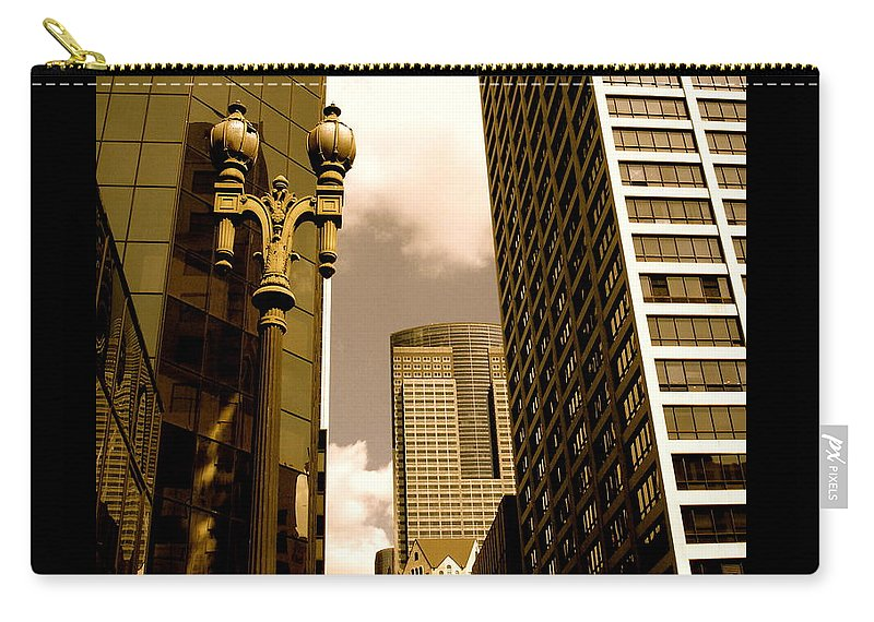 Los Angeles Prints Carry-all Pouch featuring the photograph Los Angeles Downtown by Monique's Fine Art
