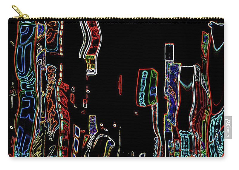 Digital Art Carry-all Pouch featuring the digital art Losing Equilibrium - Abstract Art by Carol Groenen