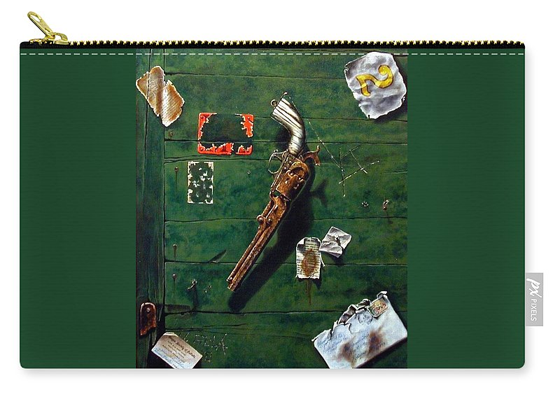 Trompe Le Oil Carry-all Pouch featuring the painting Lost And Found by Jim Gola