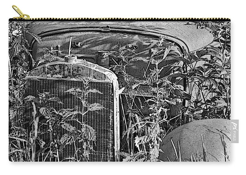 Old Cars Carry-all Pouch featuring the photograph Lost In The Weeds by Randy Harris