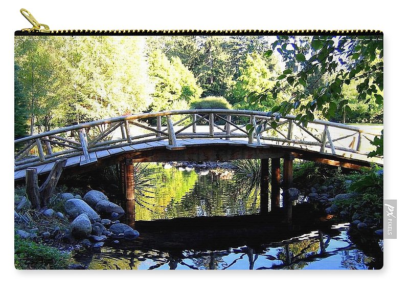 Lost Lagoon Bridge Carry-all Pouch featuring the photograph Lost Lagoon Bridge by Will Borden