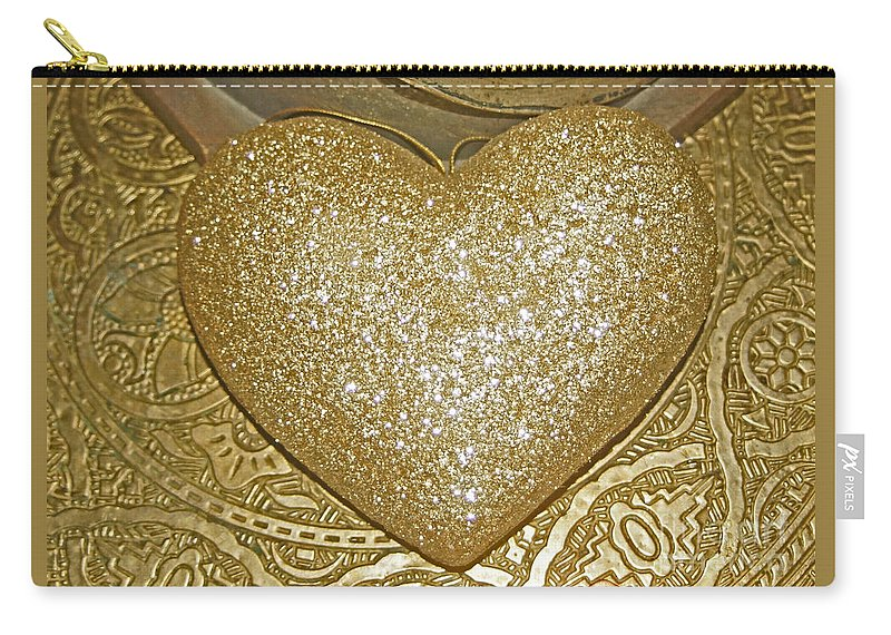 Golden Carry-all Pouch featuring the photograph Lost My Golden Heart by Eva-Maria Di Bella