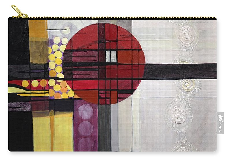 Abstract Carry-all Pouch featuring the painting Lost My Marbles by Marlene Burns