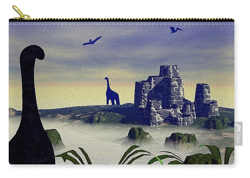 Computer Carry-all Pouch featuring the painting Lost World by Anastasiya Malakhova