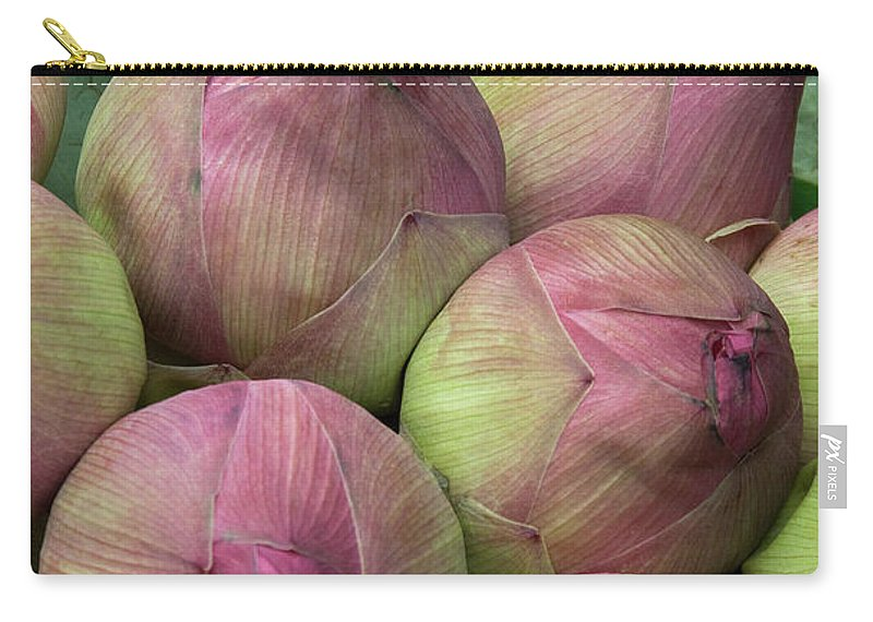Bunch Carry-all Pouch featuring the photograph Lotus Buds by Rick Piper Photography