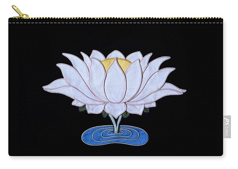 Lotusflower Carry-all Pouch featuring the tapestry - textile Lotus by Leslie Rinchen-Wongmo