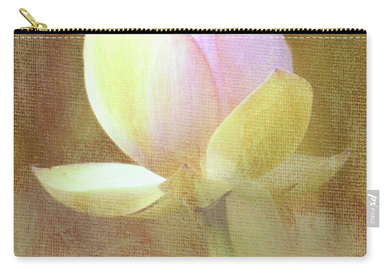 Lotus Carry-all Pouch featuring the photograph Lotus Looking To Bloom by Sharon M Connolly