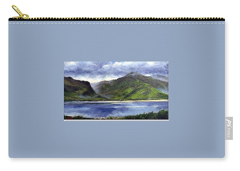 Irish Carry-all Pouch featuring the painting Loughros Bay Ireland by Jim Gola