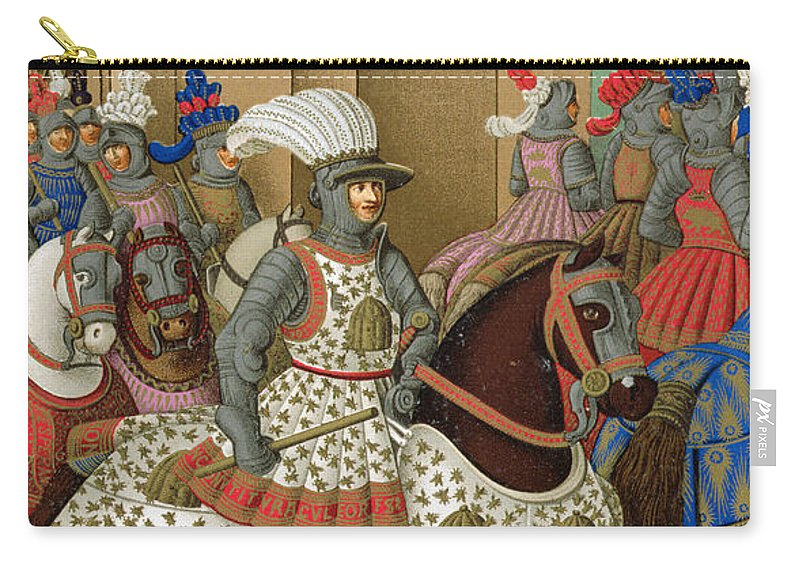Suppressed Revolt In Genoa Carry-all Pouch featuring the drawing Louis Xii Leaving Alexandria by Jean Marot