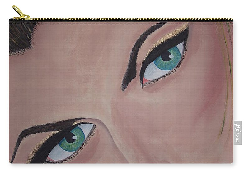 Model Carry-all Pouch featuring the painting Louise by Dean Stephens