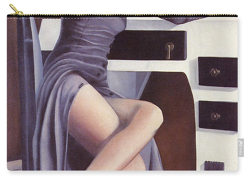 Feminine Carry-all Pouch featuring the painting Louise by Mary Ann Leitch