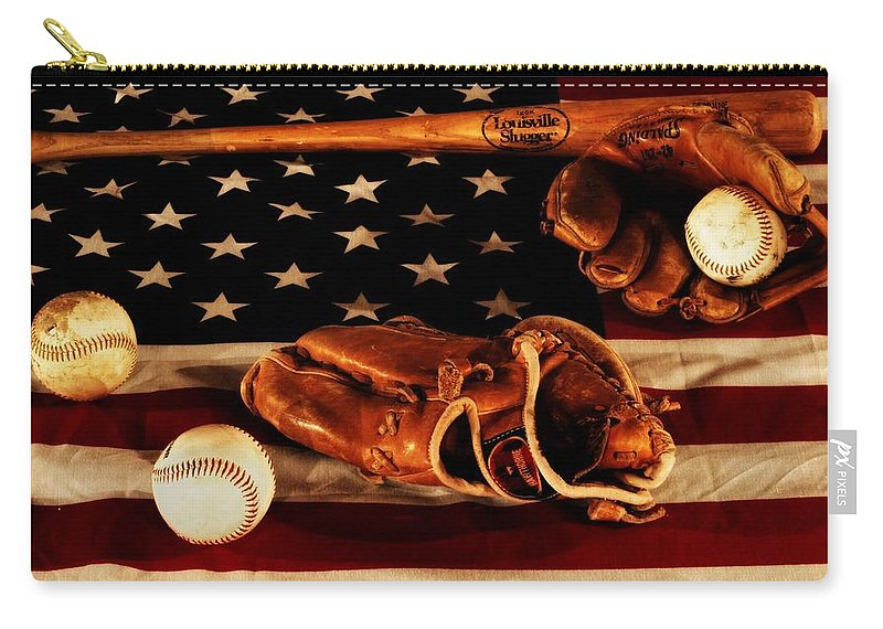 Baseball An American Tradition Carry-all Pouch featuring the photograph Louisville Slugger by Dan Sproul