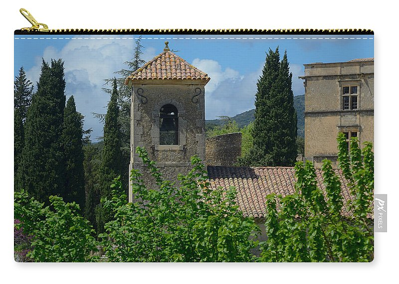 Lourmarin Carry-all Pouch featuring the photograph Lourmarin Castle In Provence by Dany Lison
