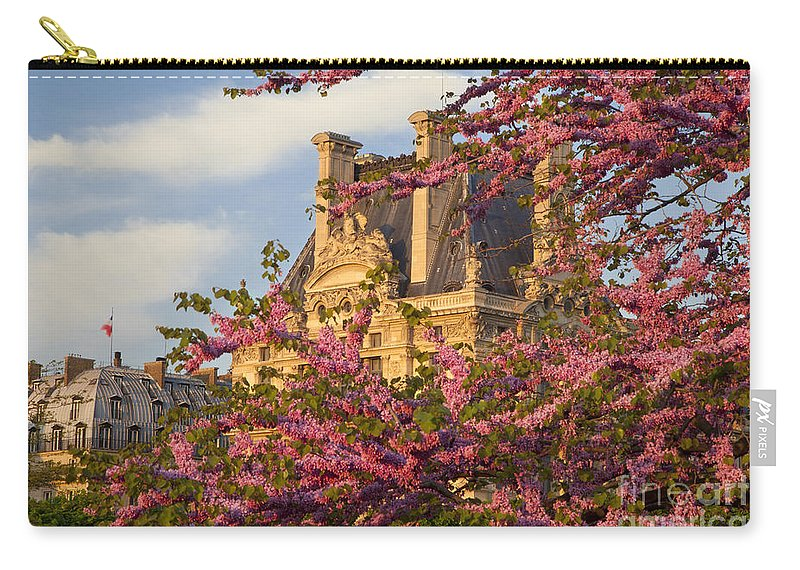 Architecture Carry-all Pouch featuring the photograph Louvre Blossoms by Brian Jannsen