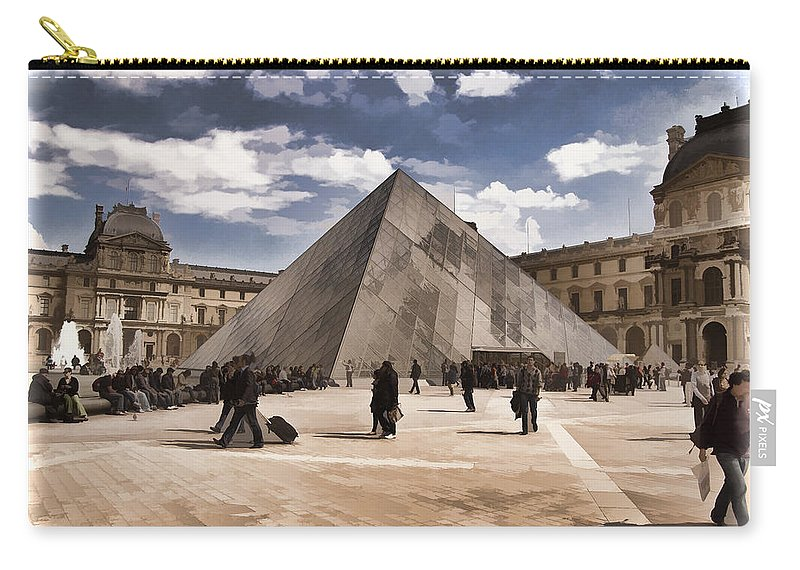 France Carry-all Pouch featuring the photograph Louvre Museum - Paris by Jon Berghoff