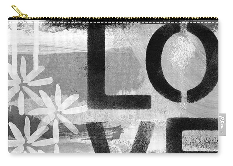Love Carry-all Pouch featuring the painting Love- Abstract Painting by Linda Woods