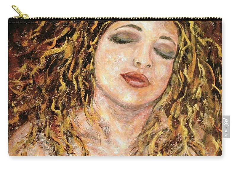 Nude Carry-all Pouch featuring the painting Love And Desire by Natalie Holland