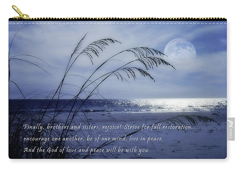 Beach Carry-all Pouch featuring the photograph Love And Peace Be With You by David and Carol Kelly