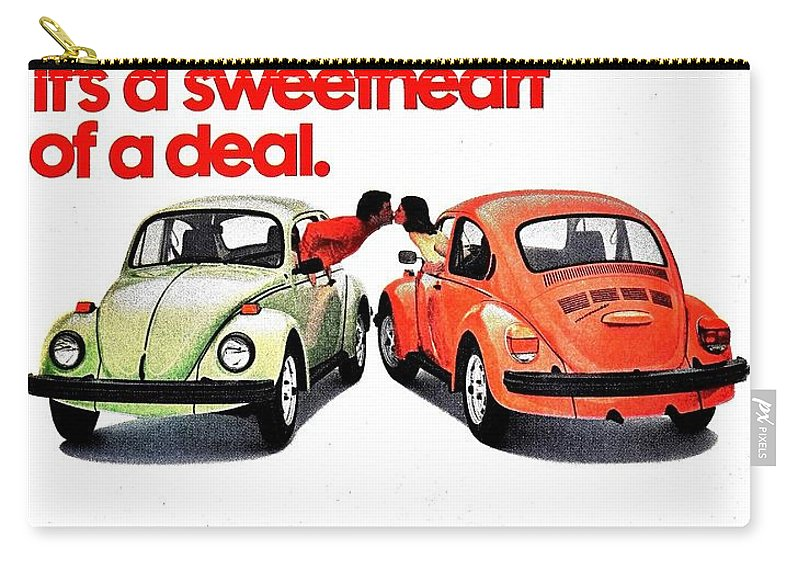 Volkswagen Carry-all Pouch featuring the photograph Love Bug by Benjamin Yeager