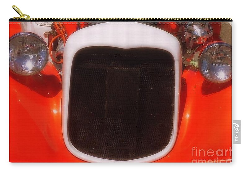 Classic Car Grill Carry-all Pouch featuring the photograph Love Bug by Bobbee Rickard