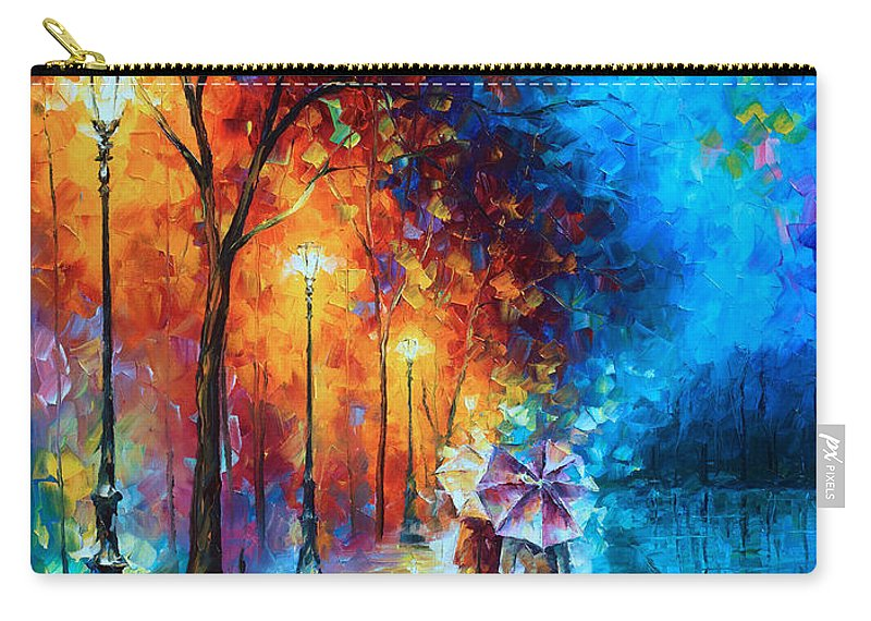 Love Carry-all Pouch featuring the painting Love By The Lake by Leonid Afremov