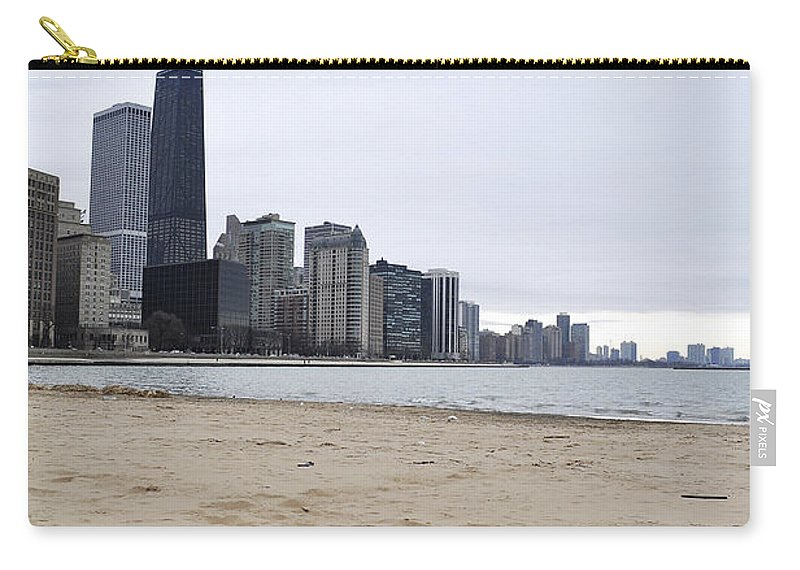 Chicago Carry-all Pouch featuring the photograph Love Chicago by Verana Stark