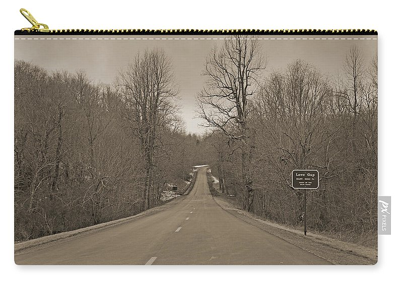 Blue Carry-all Pouch featuring the photograph Love Gap Blue Ridge Parkway by Betsy Knapp