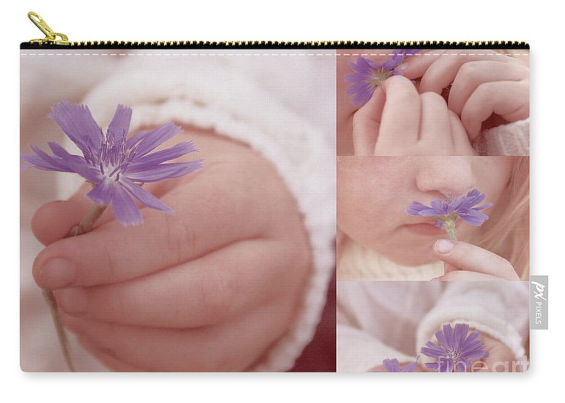 Child Carry-all Pouch featuring the photograph Love Giving Multi Dypthic - 01 by Aimelle