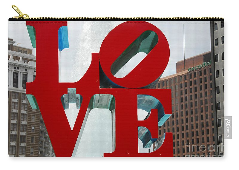 Love Carry-all Pouch featuring the photograph Love Is In The Air by Cindy Manero