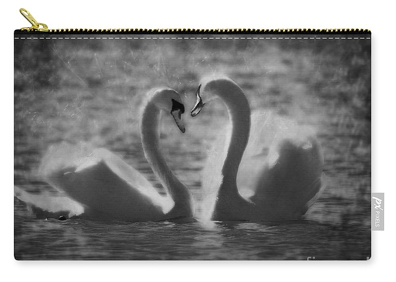 Festblues Carry-all Pouch featuring the photograph Love Is.. by Nina Stavlund