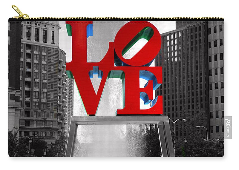 Paul Ward Carry-all Pouch featuring the photograph Love Isn't Always Black And White by Paul Ward