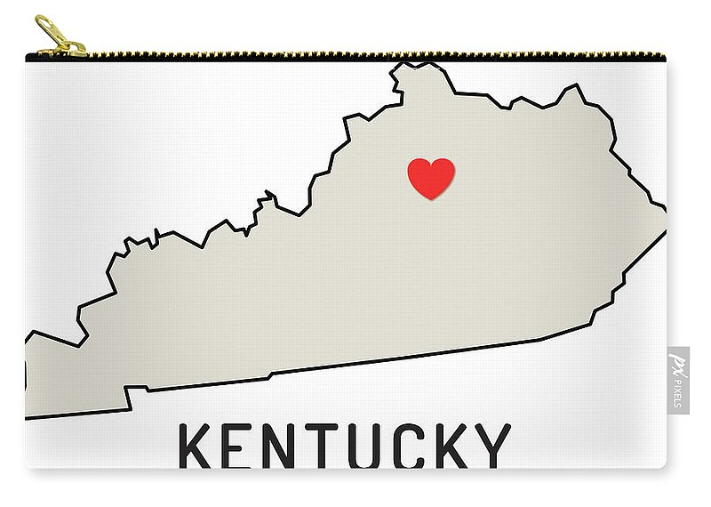 Design Element Carry-all Pouch featuring the digital art Love Kentucky State by Chokkicx