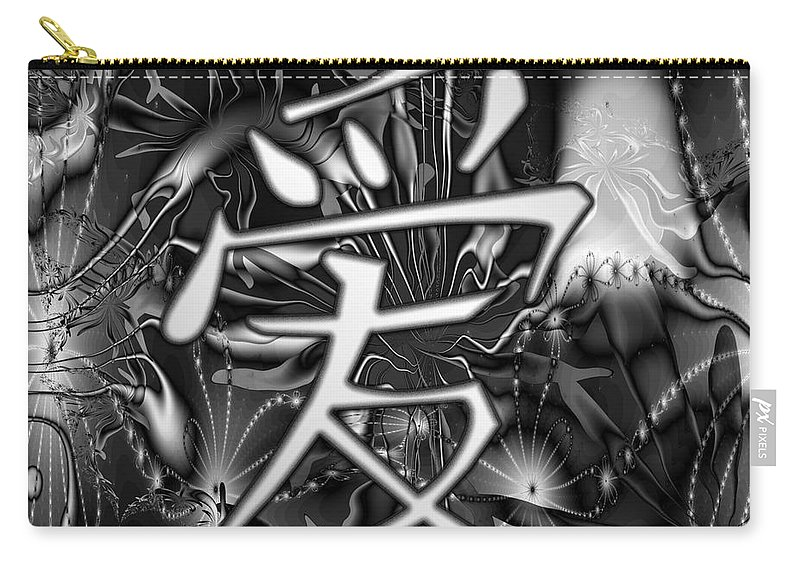Chinese Carry-all Pouch featuring the digital art Love by Kiki Art