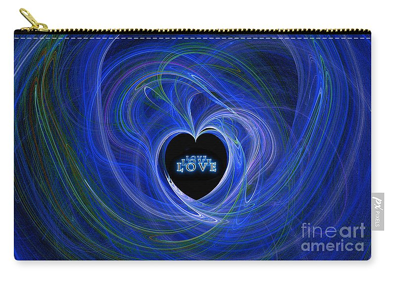 Digital Art Carry-all Pouch featuring the digital art Love - Love - Love by Kaye Menner