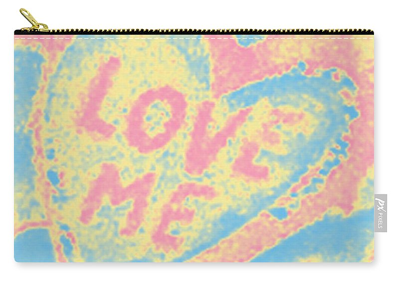 Digital Art Carry-all Pouch featuring the photograph Love Me by Marian Bell
