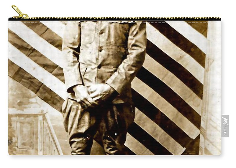Vintage Carry-all Pouch featuring the photograph Love Of Country by Image Takers Photography LLC