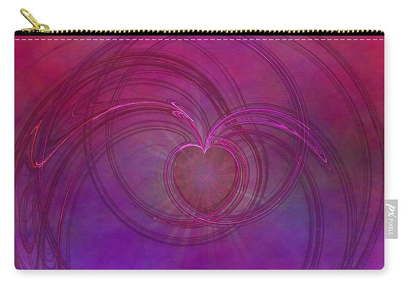 Love Carry-all Pouch featuring the digital art Love Of The Universe by Diane Parnell