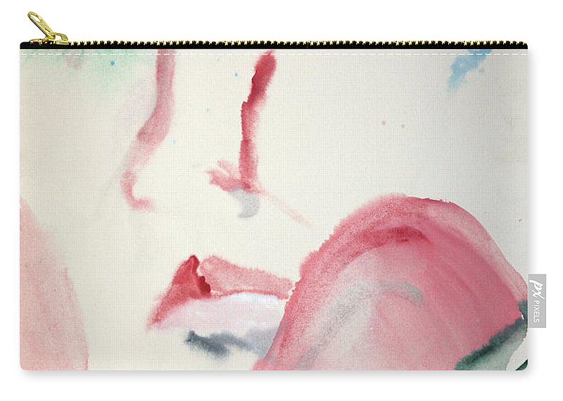 Red Carry-all Pouch featuring the painting Love Rest by Jack Diamond