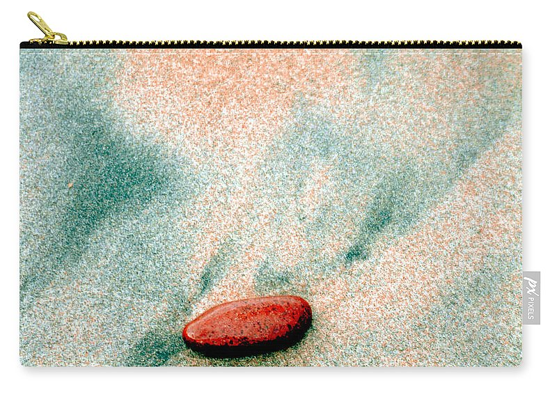 Optical Playground By Mp Ray Carry-all Pouch featuring the photograph Love Rocks by Optical Playground By MP Ray