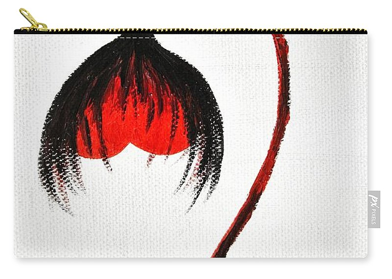 Love Story Carry-all Pouch featuring the painting Love Story Ill The End by Marianna Mills