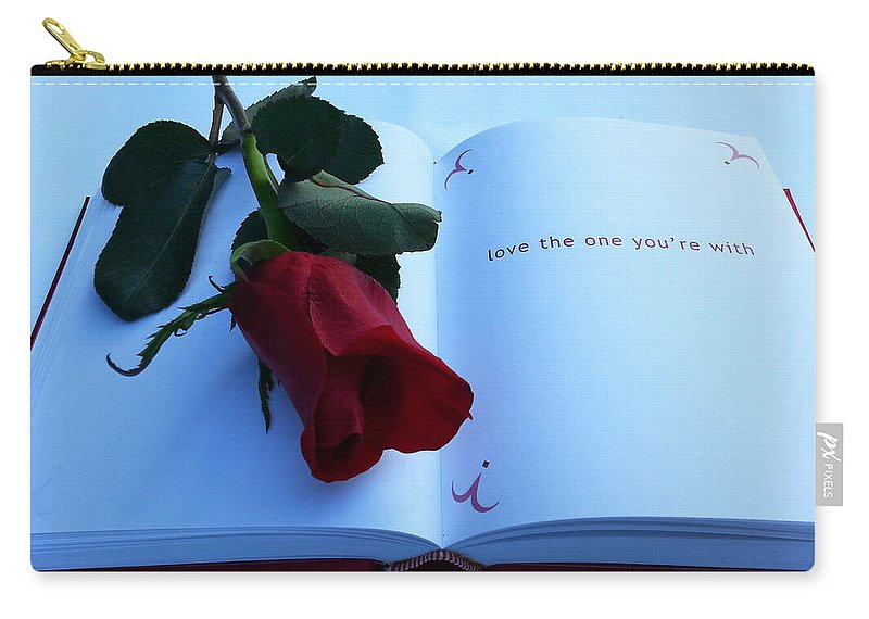 Hearts And Flowers Carry-all Pouch featuring the photograph Love The One You're With by Diana Haronis