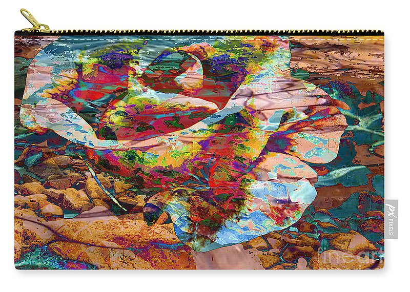 Abstract Carry-all Pouch featuring the digital art Love by Yael VanGruber
