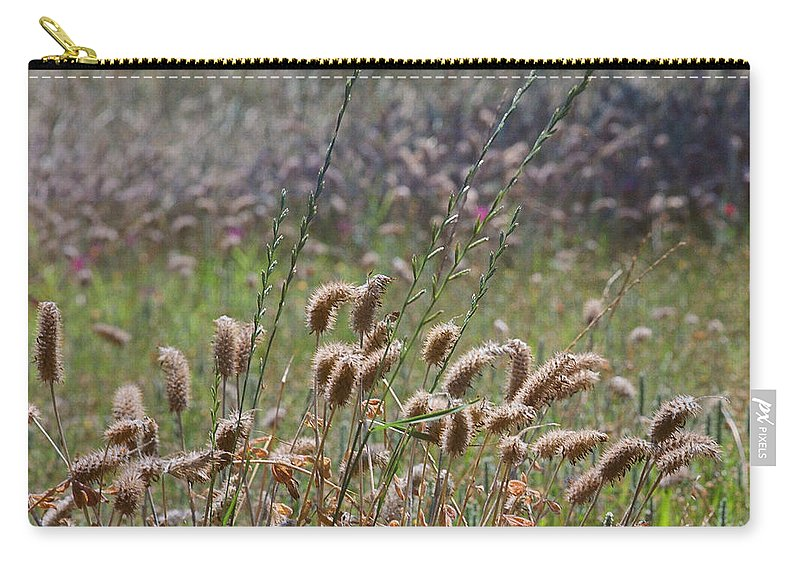 Medium Format Film Carry-all Pouch featuring the digital art Lovely Layers Of Grass by Linda Unger