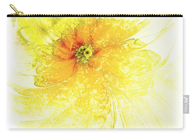 Digital Art Carry-all Pouch featuring the digital art Lovely Lemon by Amanda Moore