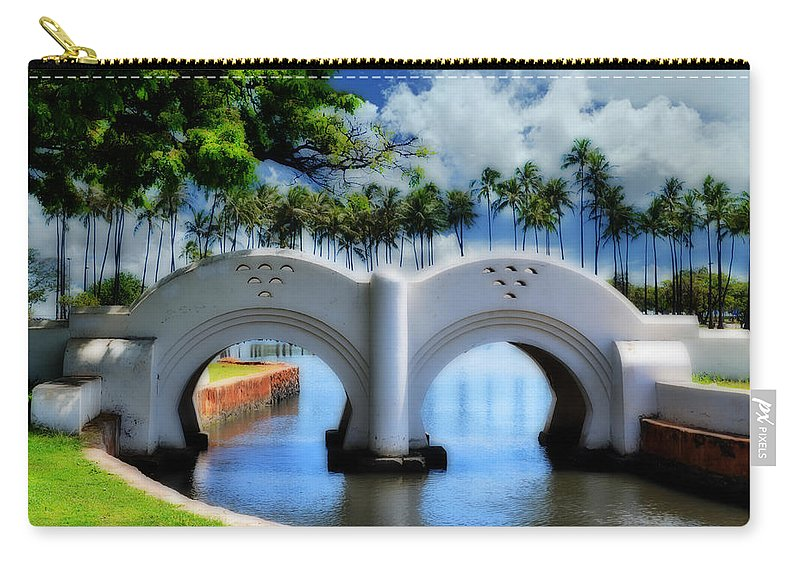Bridge Carry-all Pouch featuring the photograph Lover's Pass by Lj Lambert