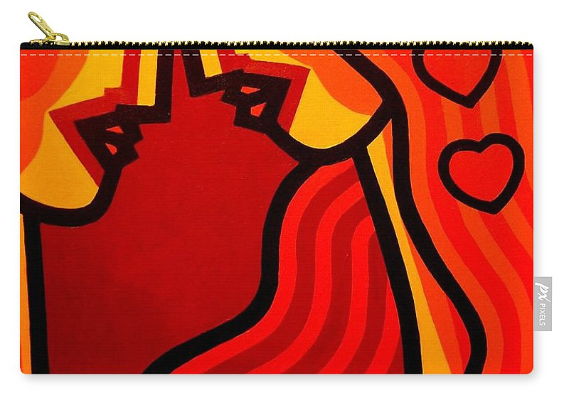 Lovers Carry-all Pouch featuring the painting Lovers Vi by John Nolan