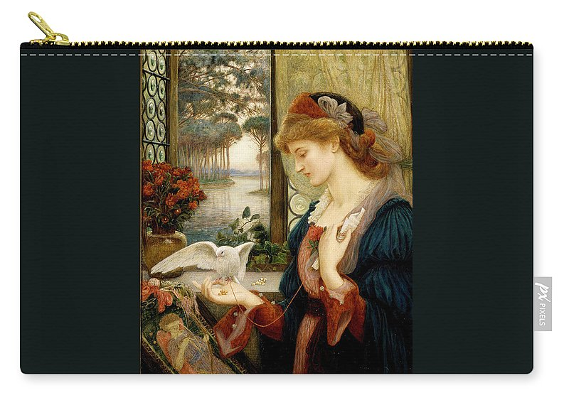 Pre-raphaelite Carry-all Pouch featuring the painting Loves Messenger by Philip Ralley