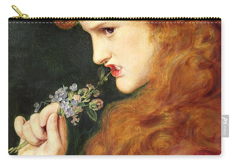 Female Carry-all Pouch featuring the painting Loves Shadow, 1867 by Anthony Frederick Augustus Sandys