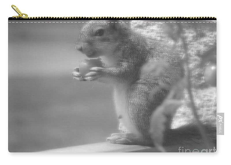 Squirrel Carry-all Pouch featuring the photograph Loves Tomatoes by Michael Krek